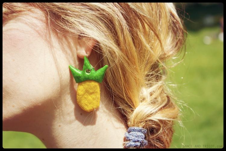 Boucles d'oreilles pate fimo