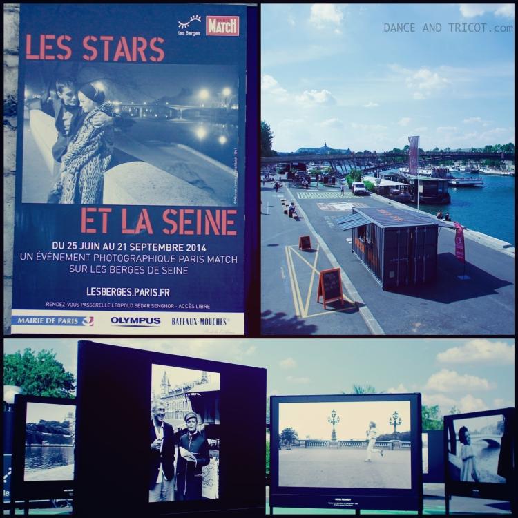 les stars et la seine exposition sur les berges de seine