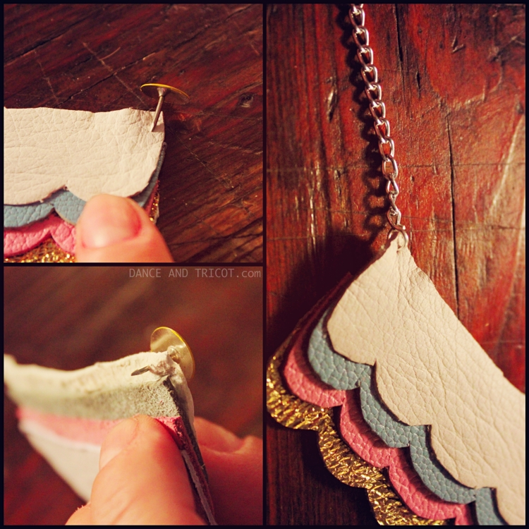 Collier nuages cuir