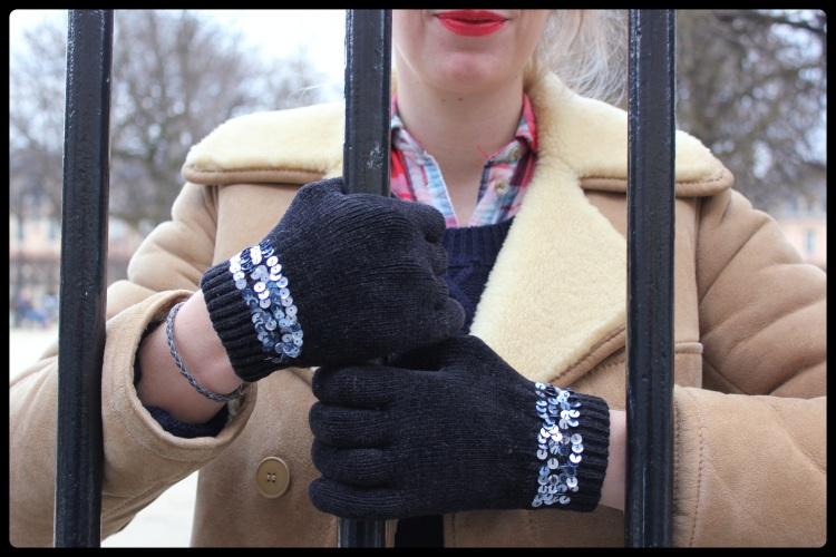gants pailettes